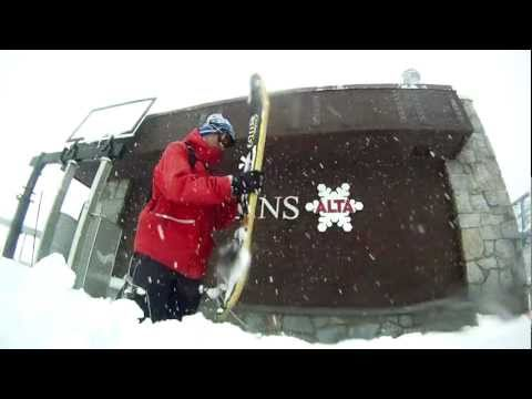 Jeremy Jensen Powsurfing at Alta Ski Resort