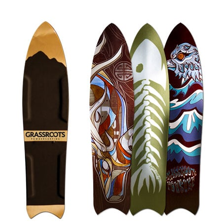 Grassroots Barracuda 3D Model bindingless powsurfer handcrafted in Utah