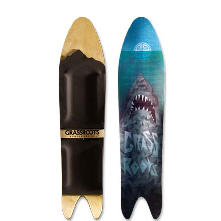 Grassroots Powder Shark 140cm 3D Model powsurfer. Handcrafted in Utah.