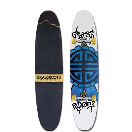 Grassroots Powder Skate 140cm Twin designed for unmatched float, consistent riding forward and backwards and opening up the doors for freestyle progression.