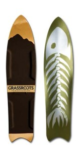 Grassroots Barracuda 140cm powsurfer with 3 dimensional base