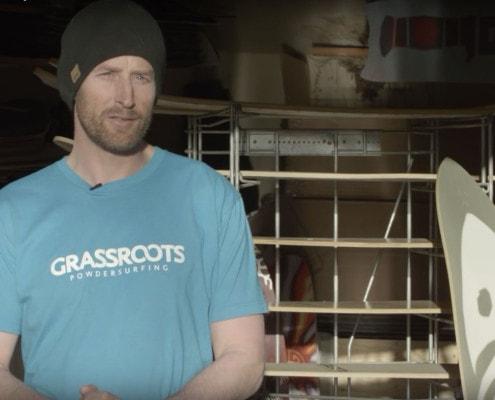 Grassroots Powdersurfing founder Jeremy Jensen talks about his company for a Warren Miller Entertainment Athlete Spotlight.