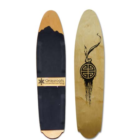 Wood Base Powder Slut 140cm Model Grassroots Powsurfer
