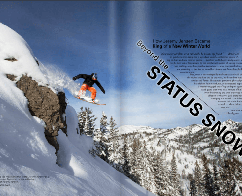 Utah State Magazine Feature Story on Jeremy Jensen as entrepreneur, filmmaker, photographer, athlete, and adjunct professor at Utah State University