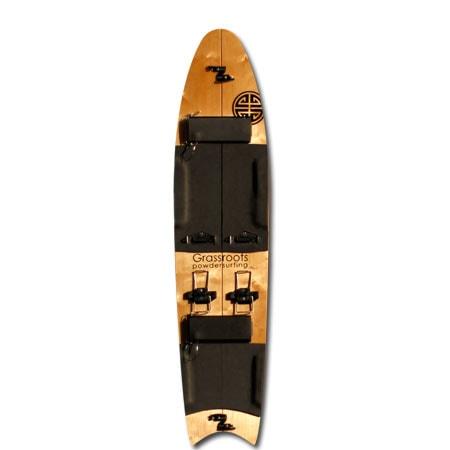 Grassroots Classic Splitsurfer Great White 140cm 3D Powsurfer
