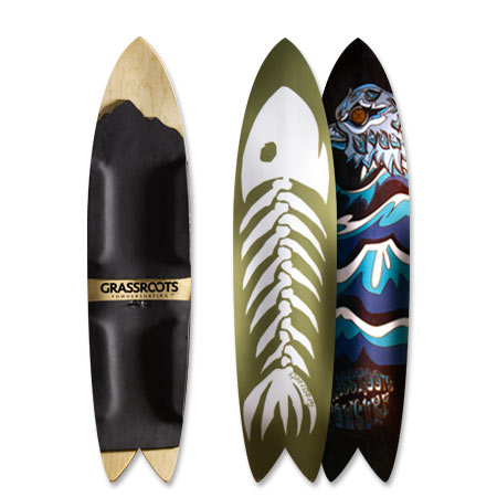 Grassroots 140cm Phish Swallow Tail 3D Model bindingless powsurfer handcrafted in Utah