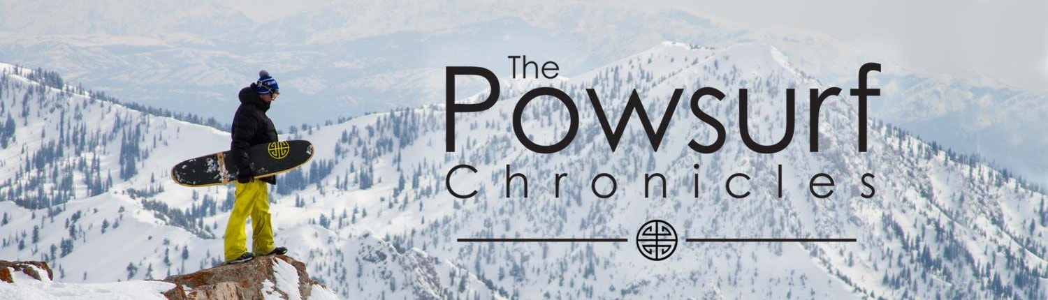 Powsurf Chronicles Video Series about powsurfing, truly surfing snow.