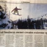 Herald Journal Article on Grassroots Powsurfing Cover Page