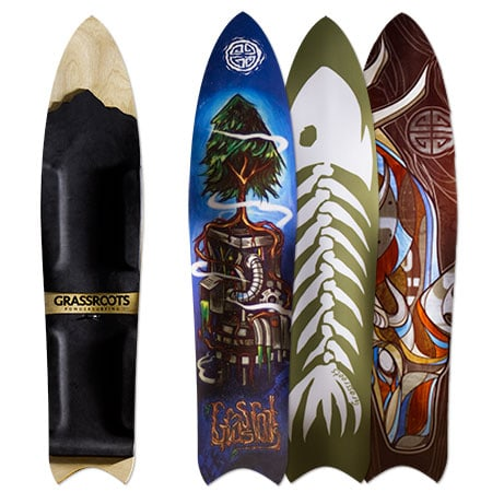 Grassroots 150cm Barracuda 3D Model bindingless powsurfer handcrafted in Utah