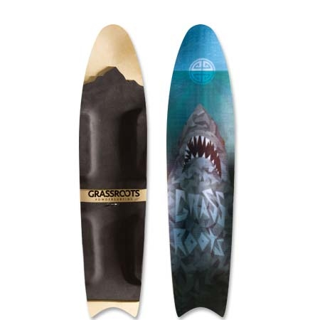 Grassroots Great White 140cm 3D Model powsurfer. Handcrafted in Utah.