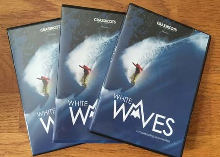 White Waves - The World's First True Binding-free powsurfing documentary film. BluRay DVD.
