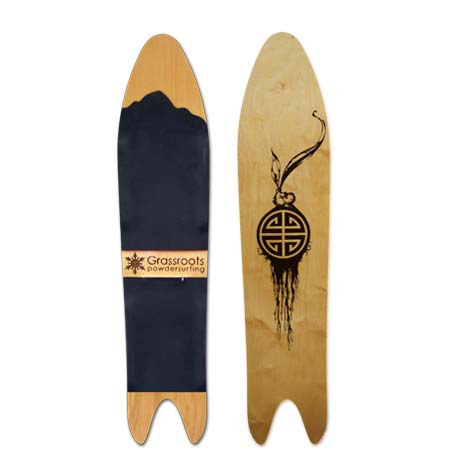 Wood Base Powder Shark 140cm Model Grassroots Powsurfer