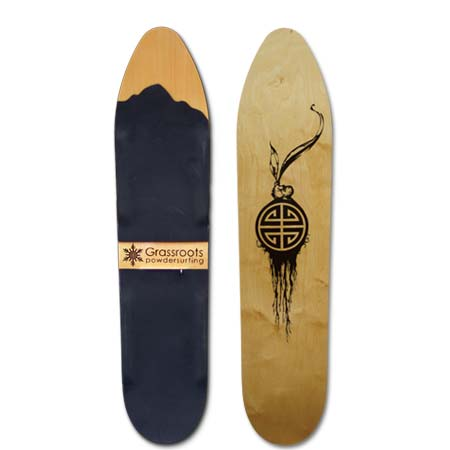 140cm Wood Base Slasher 140cm Model Grassroots Powsurfer