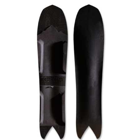 Grassroots Stealth 145cm 3D Powsurfer Black on Black